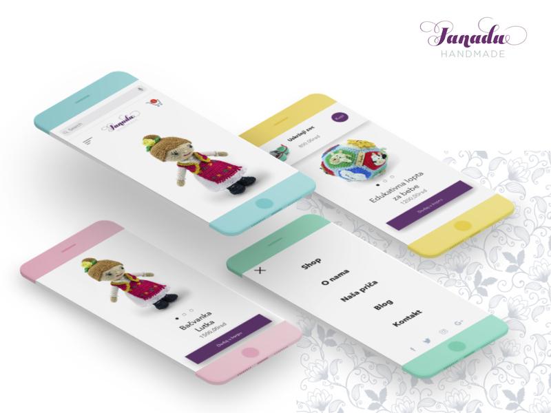 Janadu iphone x app handmade uidesign