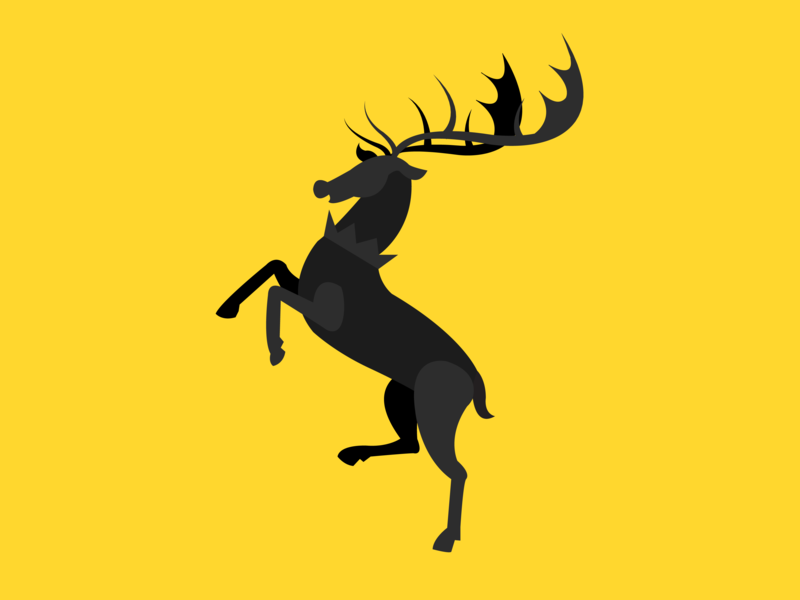 Baratheon stag yellow black fanart coatofarms baratheon gameofthrones got design animal illustrator ai poster illustration vector