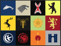 Westeros houses, poster design