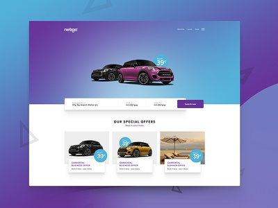 landing - car rental landingpage bookingmask booking rental car carrental