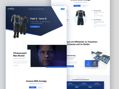 Sports/EMS Landingpage product sports ui-design landingpage