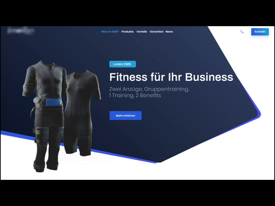EMS Landing Animated animated landingpage sports uidesign ems invision studio studio