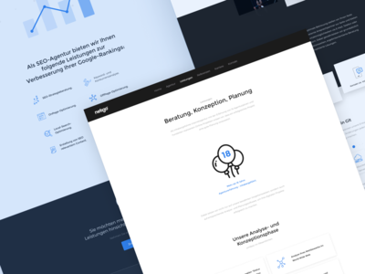 Service pages for agency website