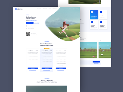 Adgames Landing detail page teaser payment play price list price table prices pricing page landing page design landing page ui ux ui landingpage