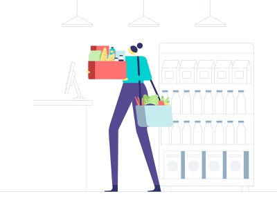 Simpl - Campaign Illustrations online store shopping grocery cab cooking app ui simpl getsimpl character design vector illustration