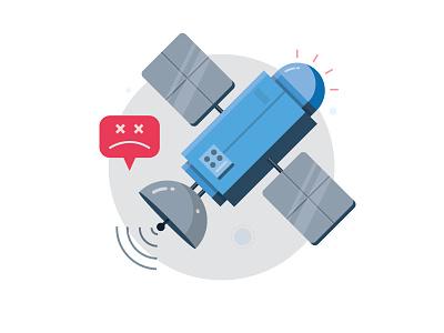 No Internet  yatish asthana space icon mobile satellite instamojo no internet vector app ui illustration empty state