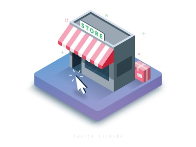 Online Store yatish asthana vector ux ui product payment online store isometric instamojo india illustration 3d
