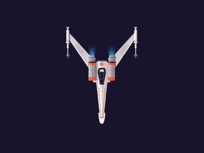 Y~ (Day 25/36) yatish asthana y spaceship galaxy starfighter x wing space india illustration star trek alphabet 36 days of type