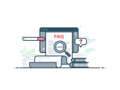 DA FAQ ? yatish asthana vector ui ux glossary dictionary web page online instamojo india illustration business e-commerce faq app