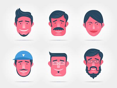 Mojo Circle family face people seller yatish asthana illustration vector india character design instamojo
