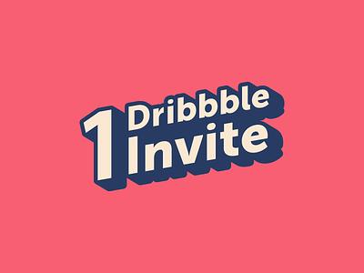 1 Dribbble Invite india yatish asthana sticker vector invite invitation giveaway dribbble