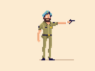 Sartaj Singh cop police vector illustration yatish asthana sartaj singh india sacred games netflix character design avatar pixel art