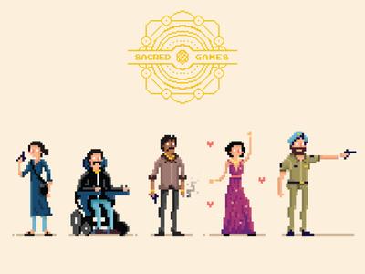 Sacred Games - Pixel Art Characters