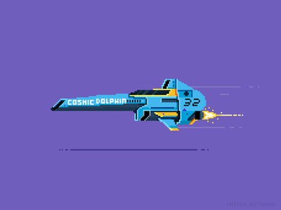 Cosmic Dolphin F-Zero space nintendo 8-bit racing game art yatish asthana pixel dailies pixel art videogame cosmic dolphin f zero illustration