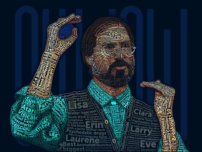Steve Jobs 🍎 iphone yatish asthana text type typography vector illustration portrait apple steve jobs