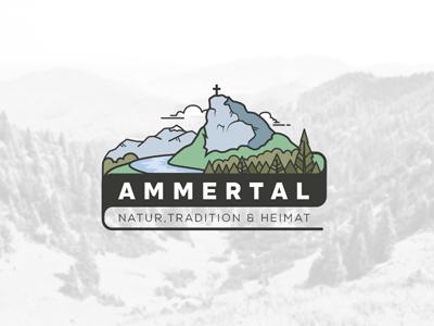 The beautiful »Ammertal« garmisch-partenkirchen logo hiking mountain landscape nature germany bavaria