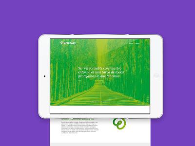 GreenWay web design ui ux greenway chile hellopin green diseño brand bacan