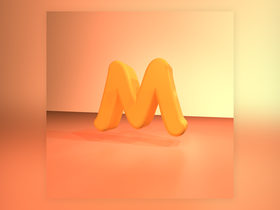M design type design graphic design 36daysoftype type 3d
