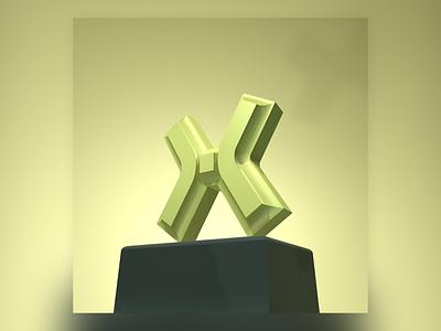 X design type design graphic design 36daysoftype type 3d