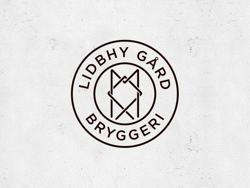 Lidbhy Gård Bryggeri roslagen norrtälje lockup branding beer brewery logo