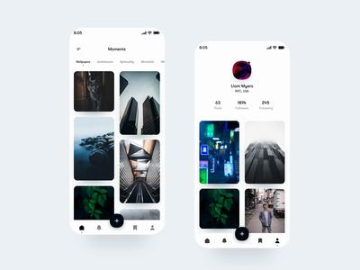 Photographers social media - Mobile App Animation