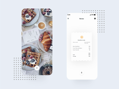 Scanning receipt - Mobile App Animation