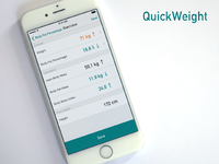 QuickWeight - Quickest Weight Entry for Apple Health