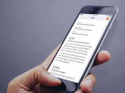LX Gesetze law german iphone ios app gesetze lxgesetze