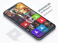 phonetrait on iPhone X