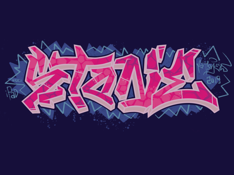 Stone #001 apple pencil procreate app procreate graffiti digital graffiti art graffiti illustration