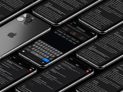 LX Gesetze Dark Mode lxgesetze gesetze apple ui user interface iphone