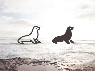Seal icon: line and filled versions