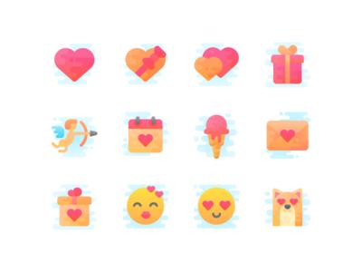 Freebie: Valentine's day icon set