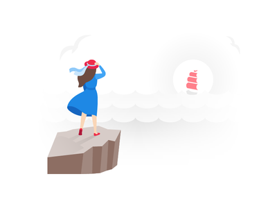 Page Loading Animation sea girl red scarlet sails load wait animation waiting loading page