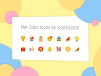 Huge set of 5,400+ flat color icons