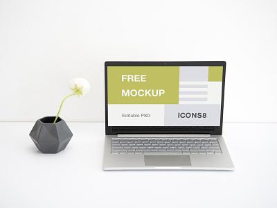 Workspace Laptop Mockup macbook website web presentation source file template psd workspace mockup download freebie free