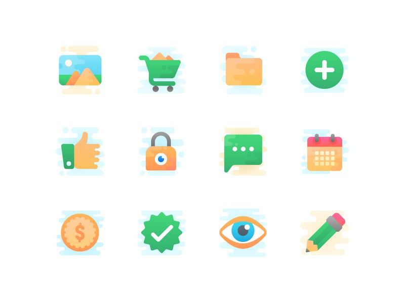 The new icon set money comment eye calendar folder like iconography icon icons set vector cute