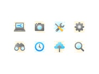 Technical icon set