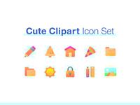 Cute Clipart Icon Set