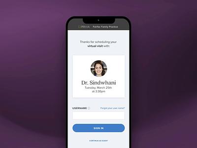 Privia Telehealth - Native App healthcare native app app uiux ui ui animation product design
