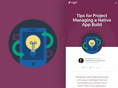 Blog Icon - Tips for Project Managing a Native App Build purple blog icon