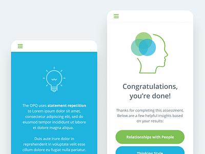 Visual exploration ui app green blue brand mobile app