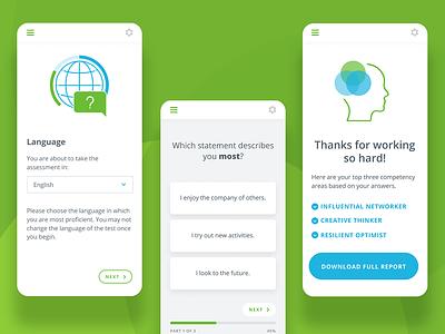 Product Design System ui illustration blue green brand quiz test app product designsystem
