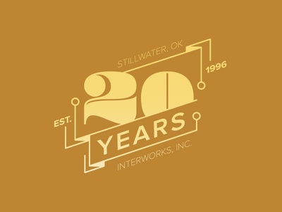 Twenty Years Already? gold illustrator vector logo numbers twenty 20