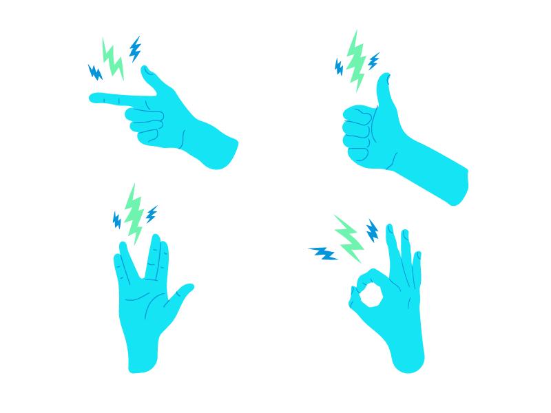 Together cheers cocktail lightning bolt lightning abm hands illustration vector art