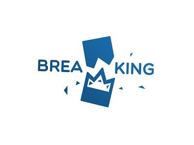 Breaking Wordplay breaker broken break letters breaking letters breaking crown breaking logomark wordmark breaking wordmark breaking logo breaking