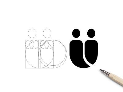 Duo People Grid Design cirkels lines grid design duo people grid user twin duo people people users duo
