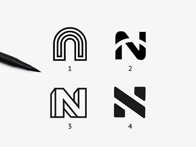 N letter design concept skecht nletterdesign ndesigns ndesign letters nletters design logo design