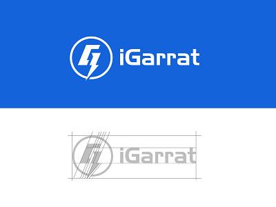 iGarrat Logo design logo igarrat logo installer installation garrat igarrat thunder logo electrical logo electrical equipment logo electrical equipment logo design