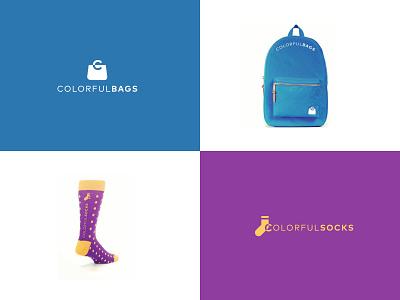 Colorful bags and socks logo icon logodesigner logo design colorfulbags colorfulsocks colorful logo
